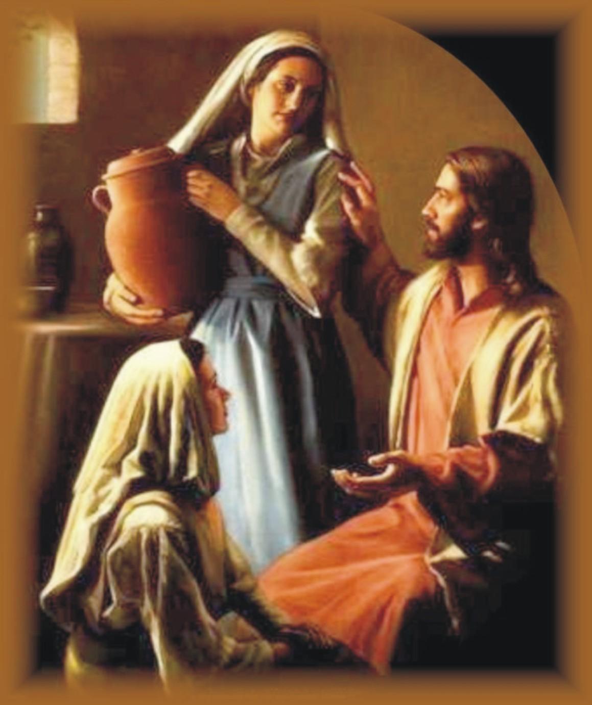 Znalezione obrazy dla zapytania Marta i Maria przyjmują Chrystusa