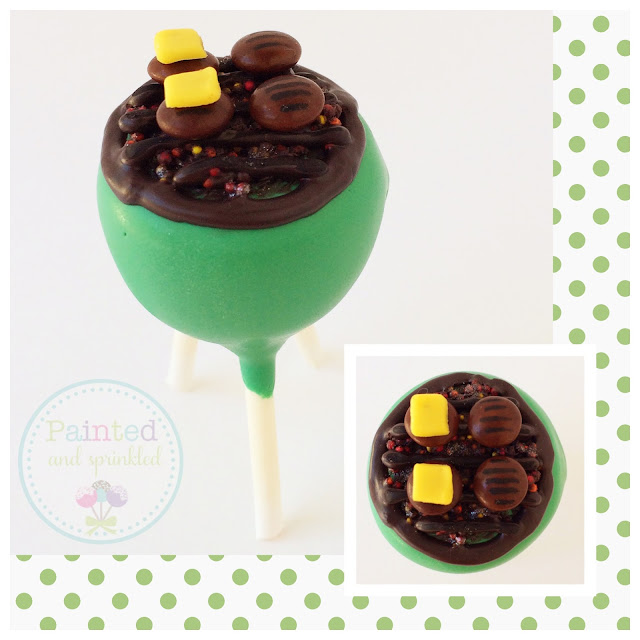 Learn how to make these fun Hanhurger Grill Cake Pops! Every dad will love them!