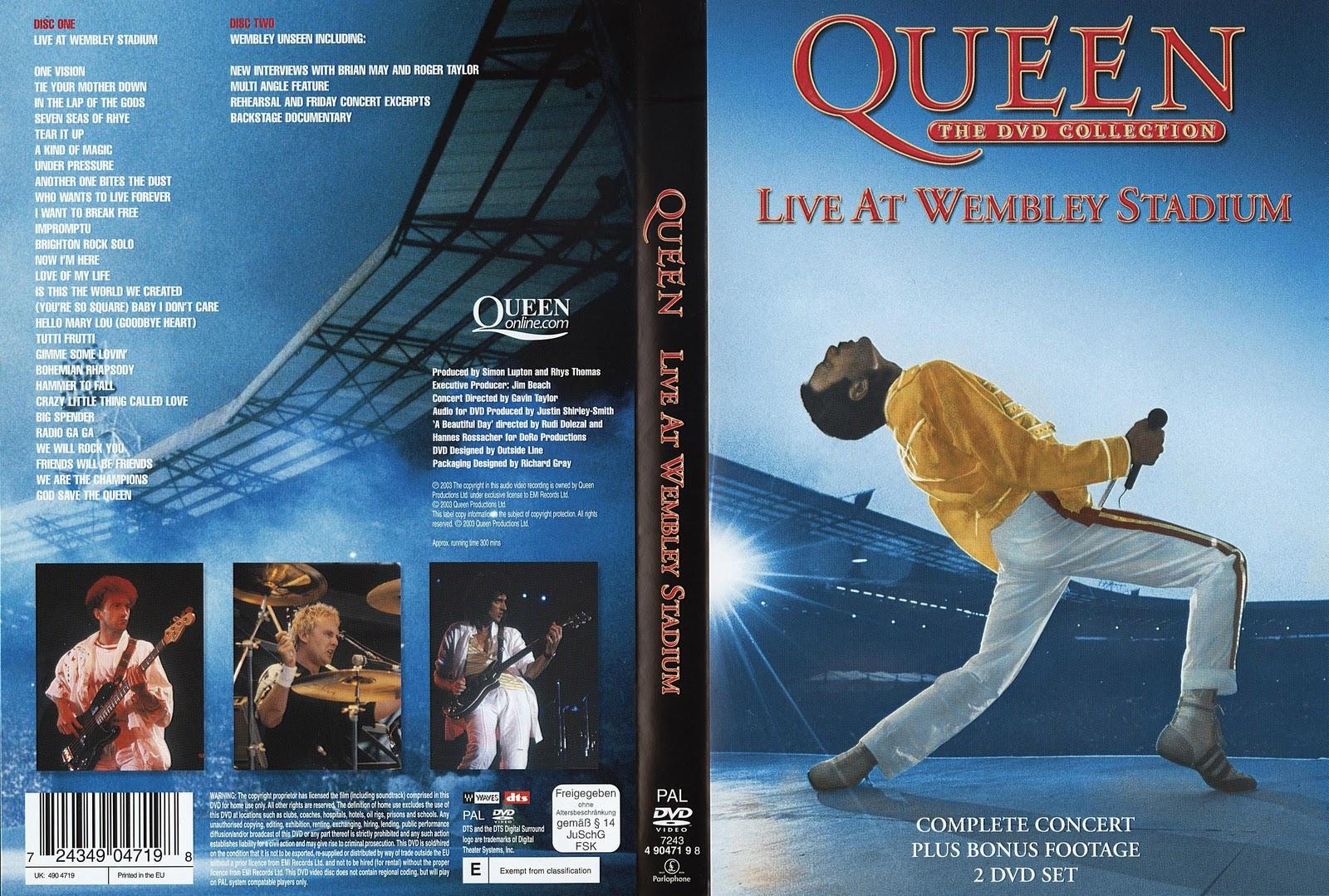 Queen - Live At Wembley Stadium - 2 DVD cover artwork