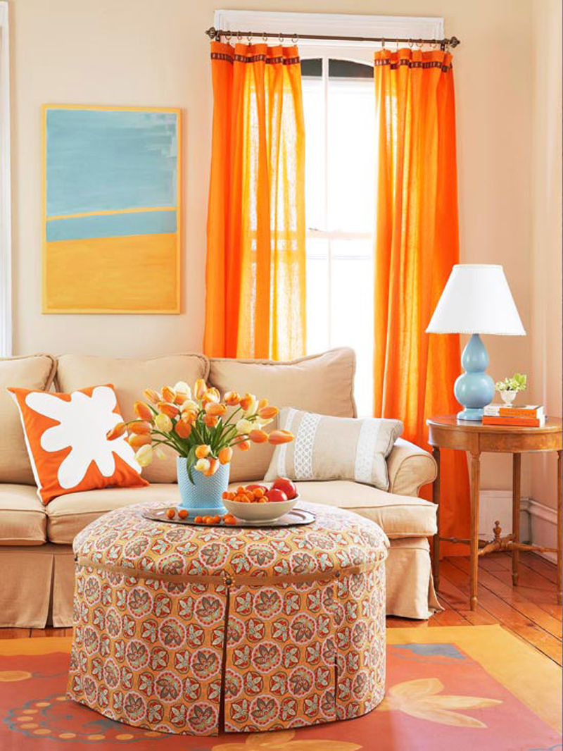 Blue And Orange Living Room Ideas