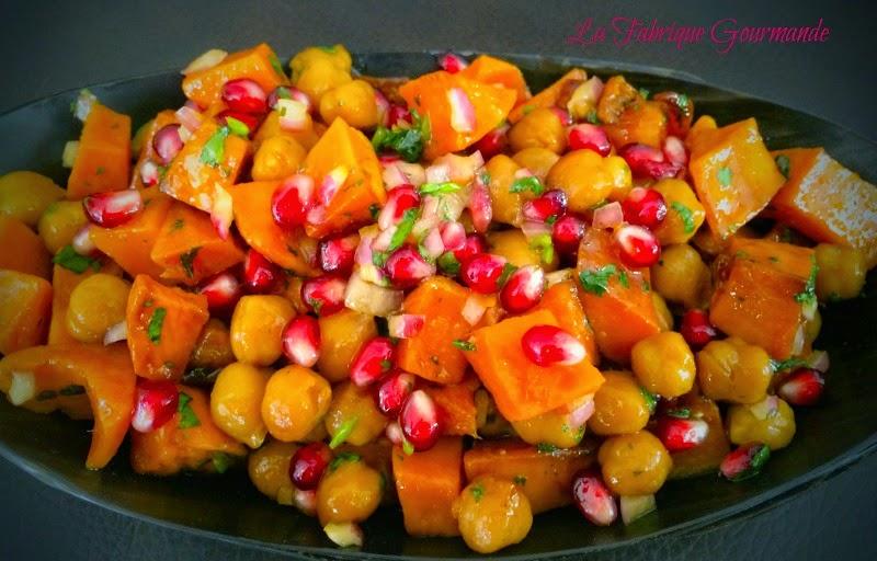 La fabrique gourmande salade de patate douce aux pois chiche et grenade - Bouture de patate douce ...