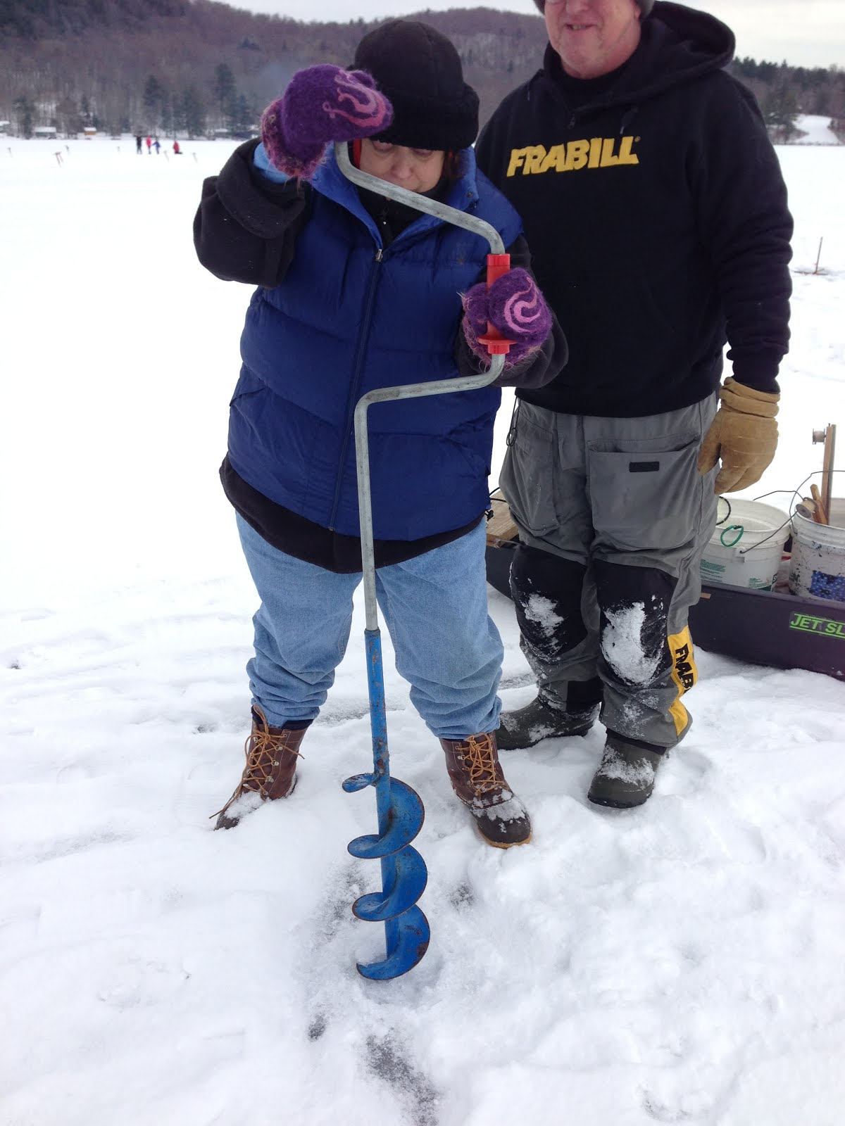 Guided Vermont Ice Fishing Trips January 2013