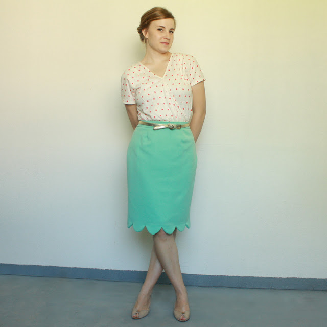 diy scalloped hem skirt
