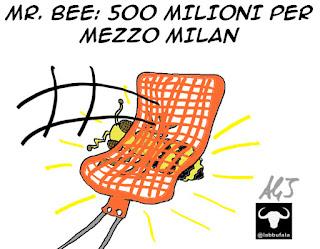 Milan, Mr,Bee, Berlusconi, sport, umorismo vignetta