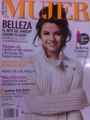 selena gomez en portada de revista siempre mujer