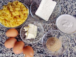 Paste cu branza la cuptor ingrediente reteta