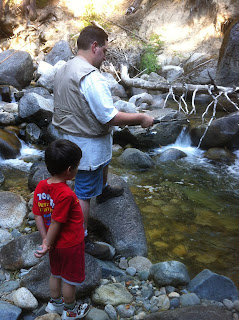 creek fishing with kids