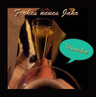 Trinkspielchen, Sektglas, Champagner, Prosit, Prost
