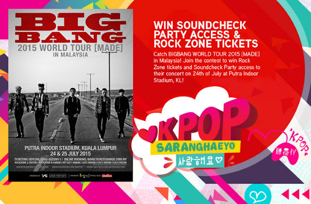 BIGBANG MALAYSIA CONCERT 2015 - ROCK ZONE AND SOUNDCHECK TICKETS GIVEAWAY