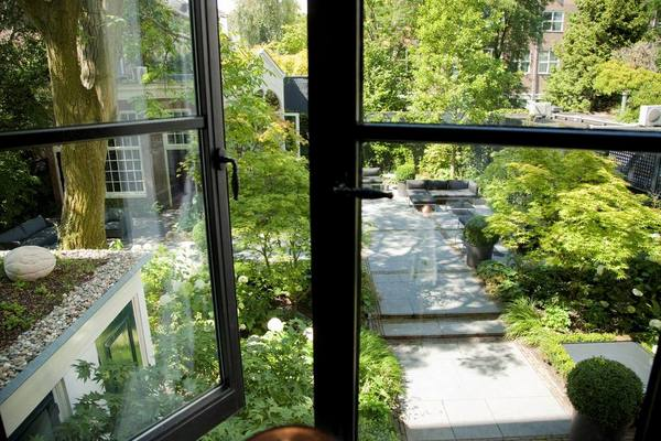 interior garden at Canal House in Amsterdam