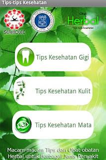 Tips Kesehatan - Aplikasi Android tentang Obat Herbal