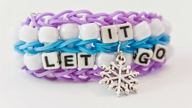 "Let It Go ""Frozen"" inspired rubber band bracelet"