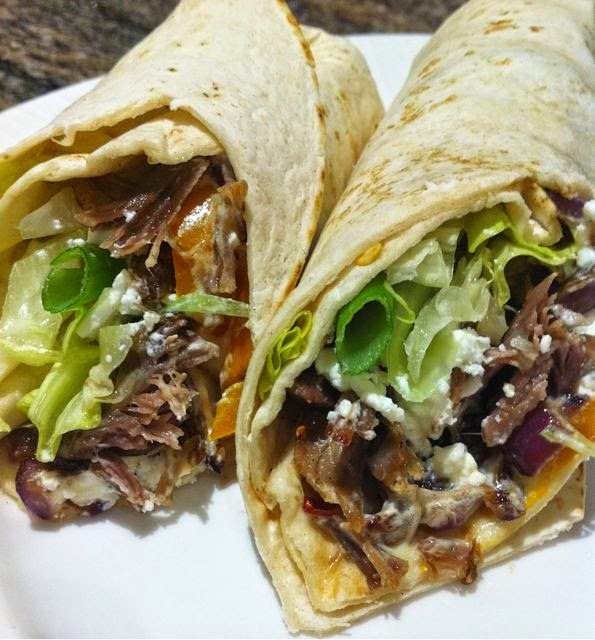 Spicy lamb wrap