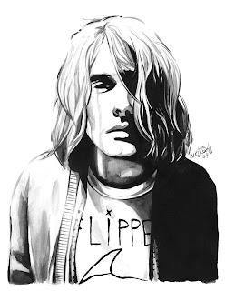 Desenho Kurt Nirvana