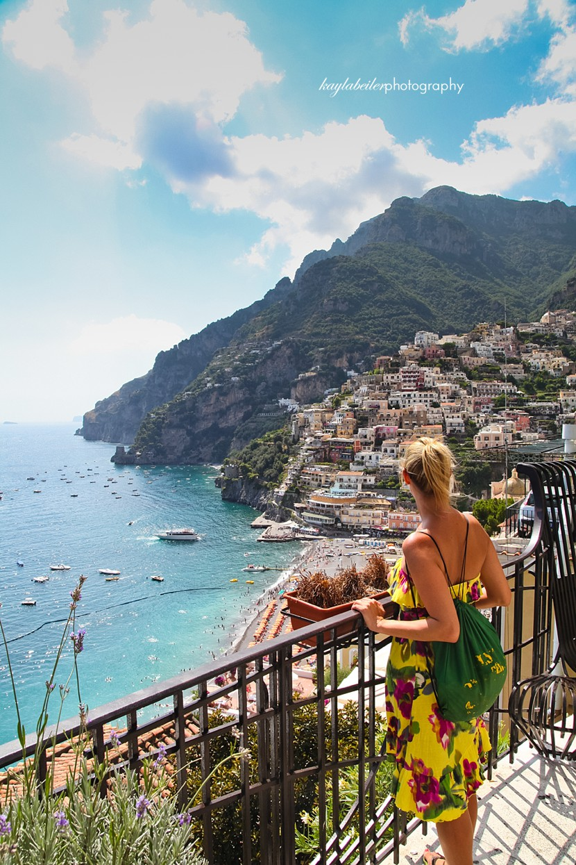 view in positano photo