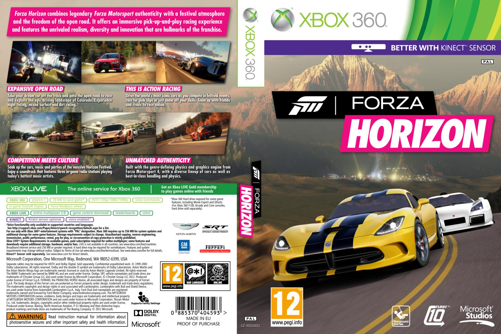 forza horizon xbox 360 gamecover capas customizadas para dvd e bluray. Black Bedroom Furniture Sets. Home Design Ideas