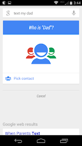 Google Now lets you refer to people by relationship