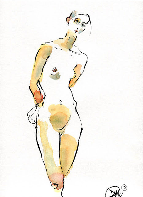 10 minute pen and wash sketch by David Meldrum