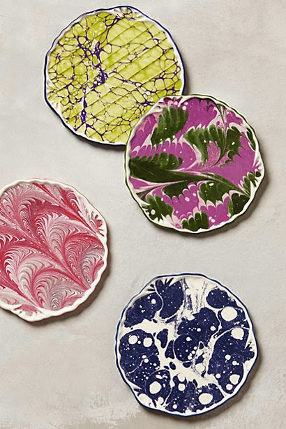 colourful ceramic coasters
