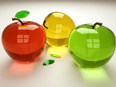 3D staklene jabuke download besplatne slike pozadine za desktop