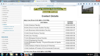 chittagong university contact info