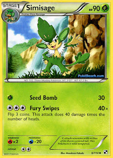 Simisage Black and White Pokemon Card