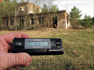 Измерение радиации на заброшенном полигоне рядом с Новоколосово