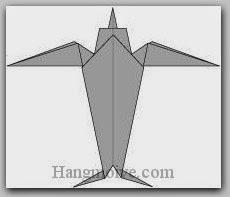 Bước 19: Hoàn thành cách xếp con chim én, chim yến bằng giấy theo phong cách origami.