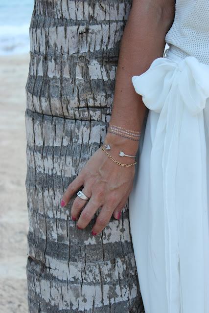 Robe naf naf blanche, punta cana bavaro