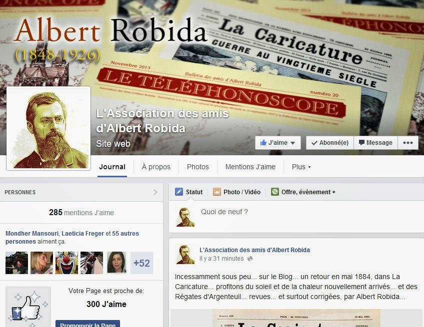 Page Facebook Albert ROBIDA