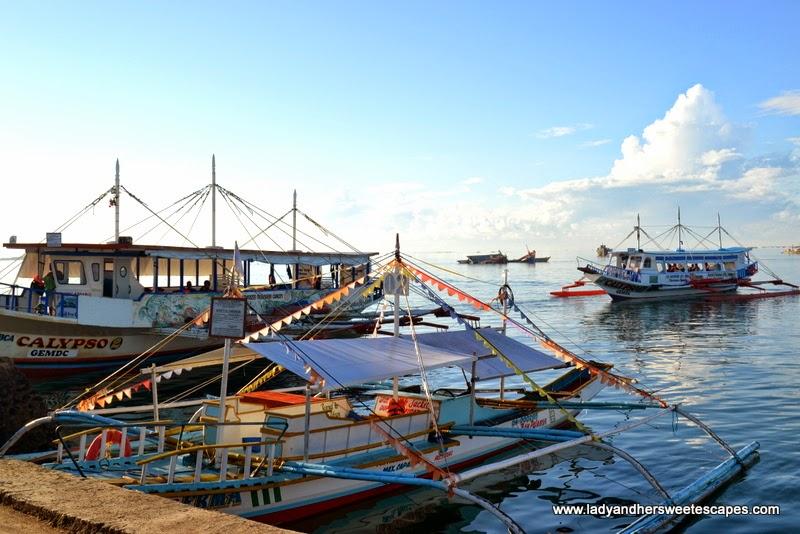 boats in Honda Bay Palawan