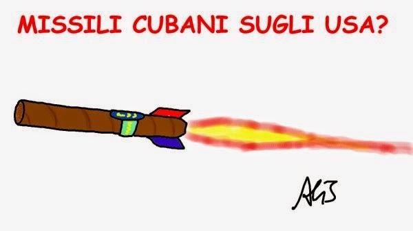 Cuba, Obama, embargo, vignetta