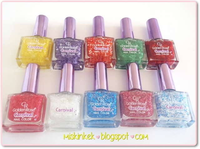 Golden Rose Carnival Nail Color Koleksiyonu