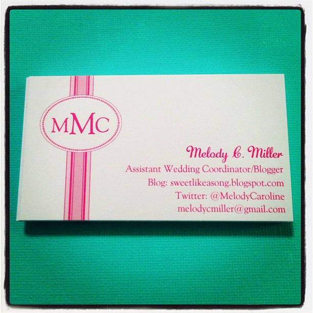 Sweet Like a Song My Vistaprint Business Cards