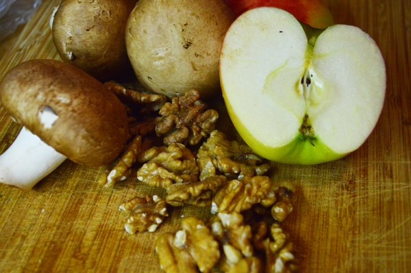 ingredients for autumn harvest salad