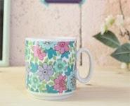 mug vintage bavaria fleurs