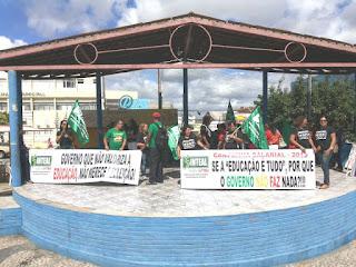 Em ato público, Sinteal reafirma apoio à luta sindical  na educação em Delmiro Gouveia