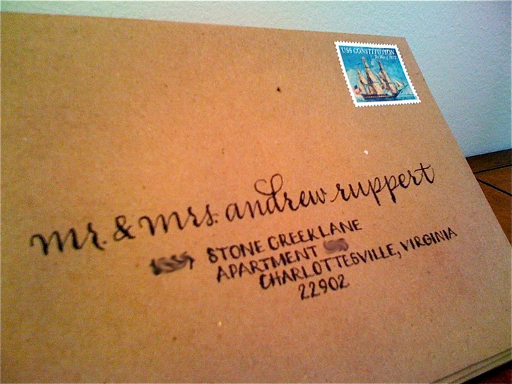 address reverend wife mailing envelope