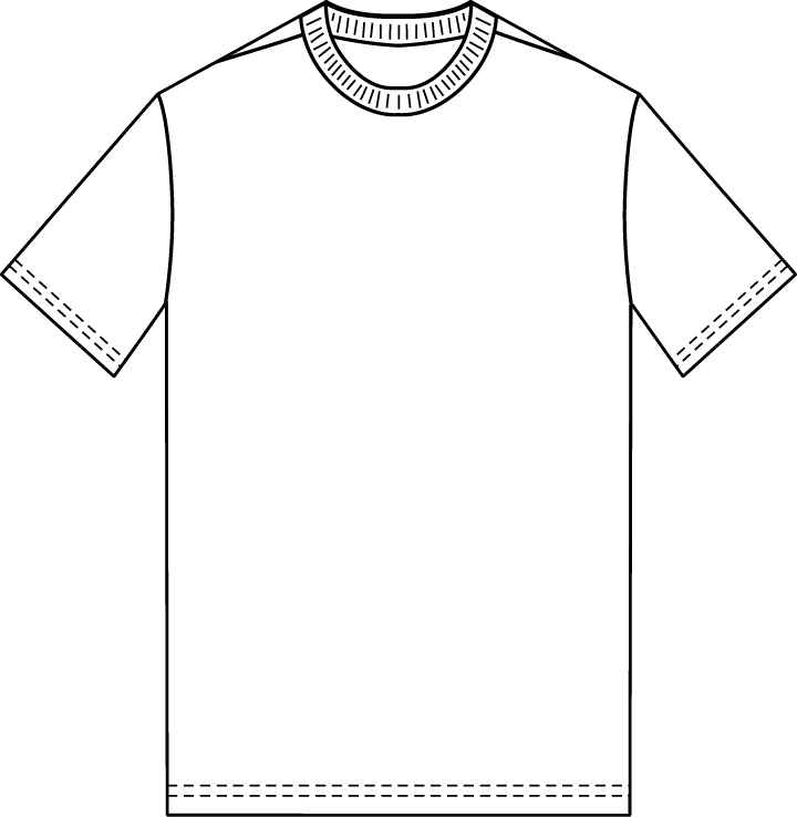 The Sketchpad Blank TShirt Template
