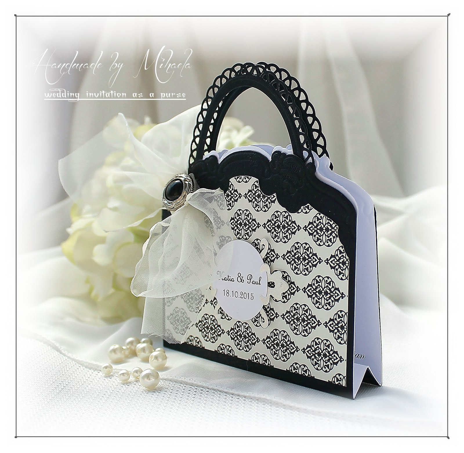 Wedding invitation as a purse