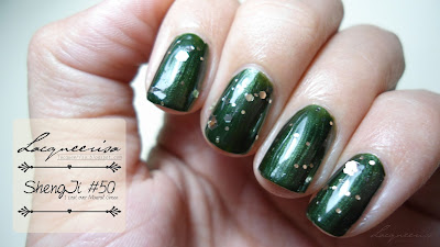 ShengJi #50 Gold/Silverish Nail Glitter Review