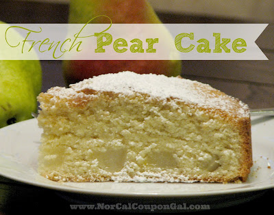 In The Kitchen With Mom Mondays – French Pear Cake Recipe