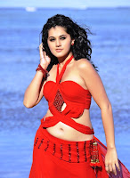 Tapsee, Hot, In, Red, Dress