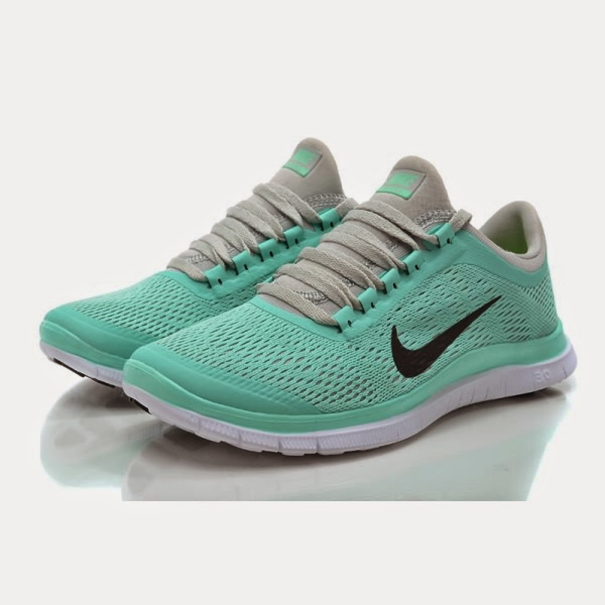 Nike Free 30 V5 Womens Running Shoes Crystal Mint For Sale
