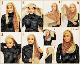 Cara Memakai Jilbab Modern Pashmina Simple
