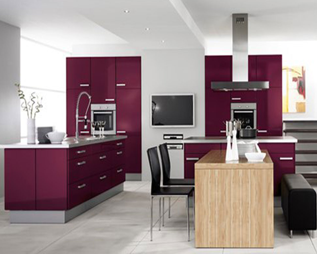 Furniture design for Modern kitchen cabinet design