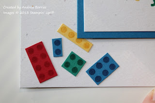 "Close-up image of card stock Lego-style ""bricks."""