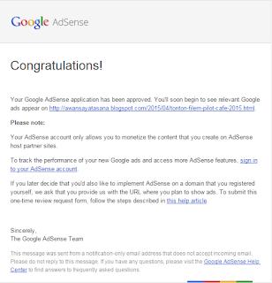 Tips lulus Google Adsense di blog Bahasa Melayu