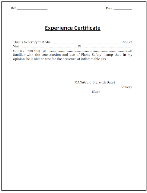 Lamp Handling Certificate Experience Certificate Gujarats – Download Medical Certificate