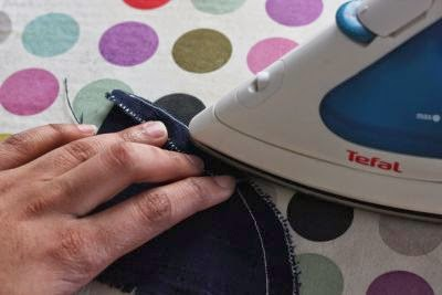 Sewing makes folding and pressing easy